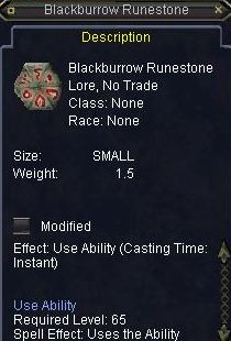 Blackburrow Runestone