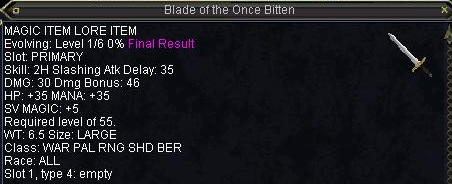 Blade of the Once Bitten