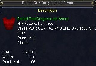 Faded Red Dragonscale Armor