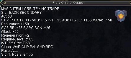 Fiery Crystal Guard
