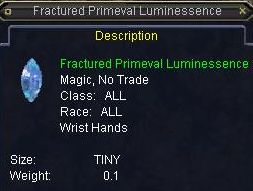 Fractured Primeval Luminessence