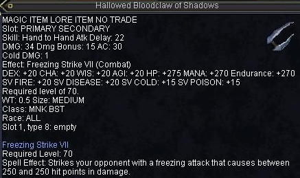 Hallowed Bloodclaw of Shadows