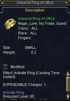 Imperial RIng of Office