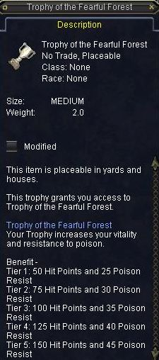Trophy of Fearfull Forest