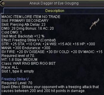 Aneuk Dagger of Eye Gouging