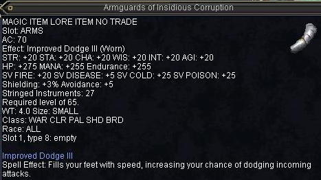Armguards of Insidious Corruption