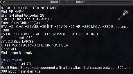 Blood-polished Hammer