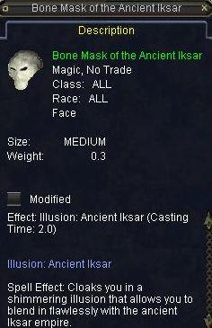 Bone Mask of the Ancient Iksar
