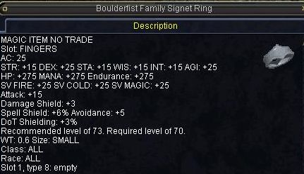 Boulderfist Family Signet Ring