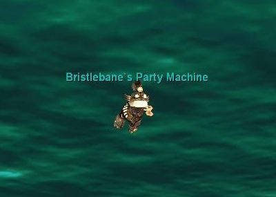 水中を泳ぐBristlebane\'s Party Machine