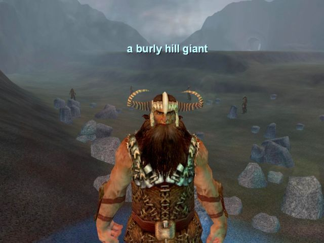a burly hill giant