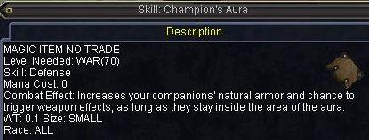 Skill: Champion\'s Aura