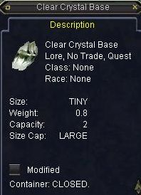 Clear Crystal Base