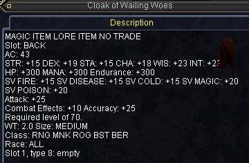 Cloak of Wailing Woes