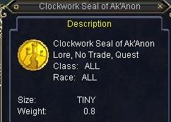 Clockwork Seal of Ak`Anon