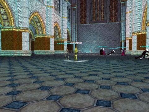 ダンスホールで骨と剣の舞を披露