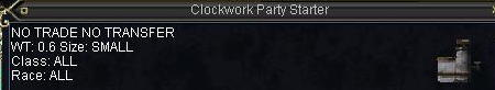Clockwork Party Starter