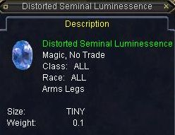 Distorted Seminal Luminessence
