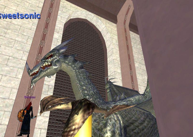 Guild Lobbyにドラゴン現る