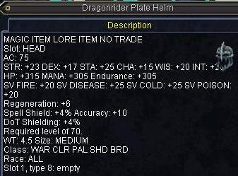Dragonrider Plate Helm