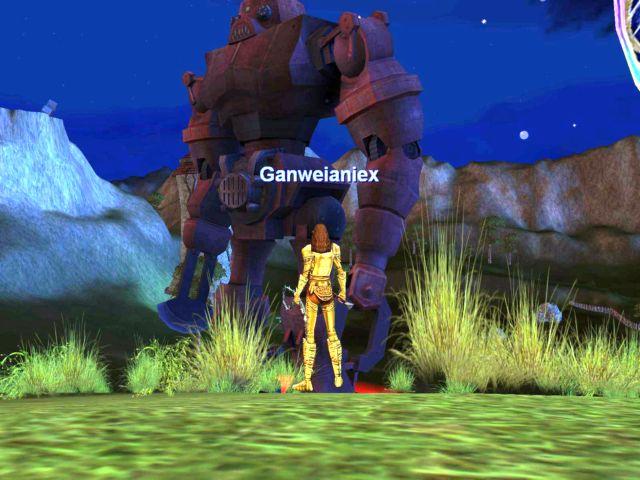 Ganと巨人ロボ