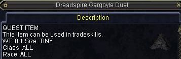 Dreadspire Gargoyle Dust