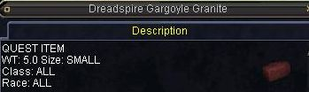 Dreadspire Gargoyle Granite
