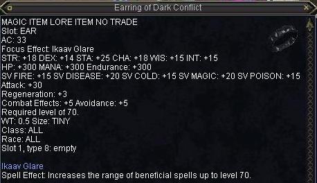 Earring of Dark Conflict