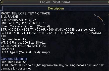 Fabled Bow of Storms