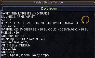 Fabled Seru\'s Torque