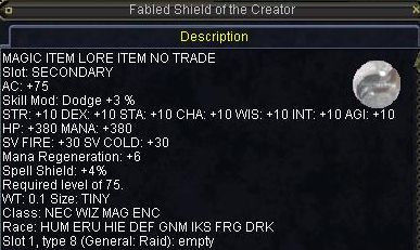 Fabled Shield of the Creator