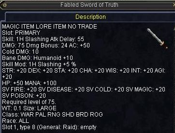 Fabled Sword of Truth