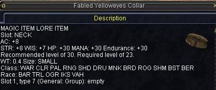 Fabled Yelloweyes Collar