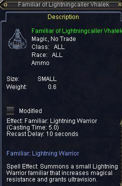 Familiar of Lightningcaller Vhalek