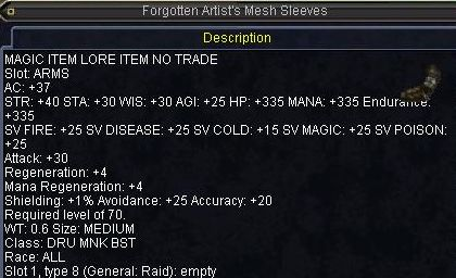 Forgotten Artist\'s Mesh Sleeves