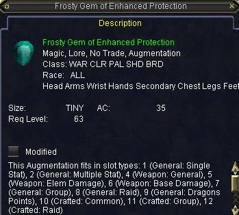 Frosty Gem of Enhanced Protection