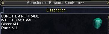 Gemstone of Emperor Sandvarrow