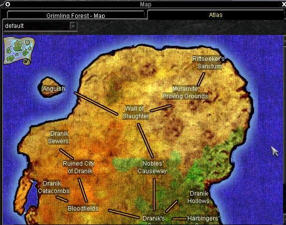 Omen of War世界地図