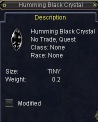 Humming Black Crystal