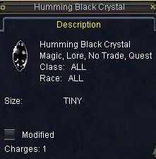 Humming Black Crystal(Clickable)