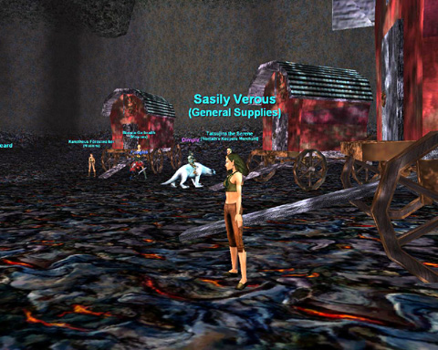 Lava caveのベンダーNPC