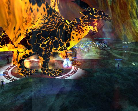 溶岩ドラゴン戦