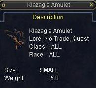 Klazag\'s Amulet