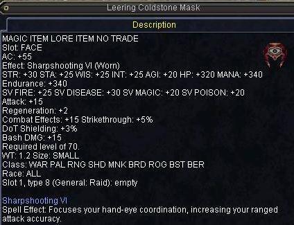 Leering Coldstone Mask