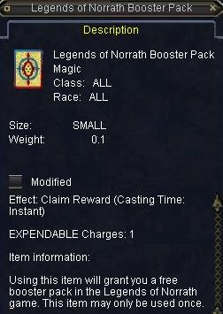 Legends of Norrath Booster Pack