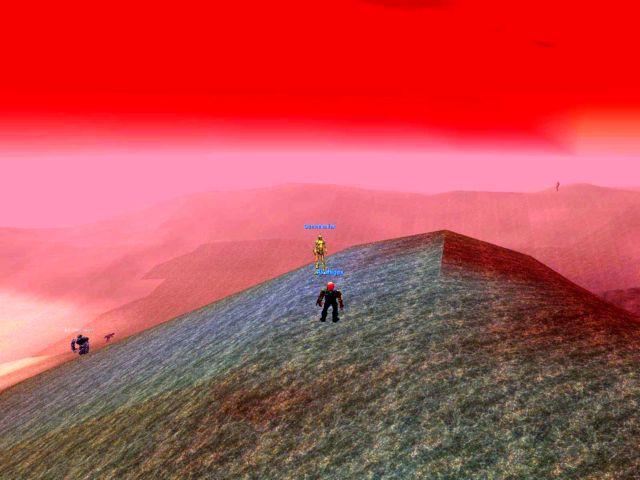 真っ赤に染まったLuclinの空