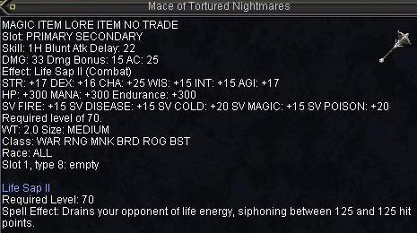 Mace of Toutured Nightmares