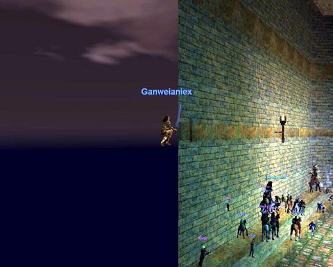 壁の中から高見の見物