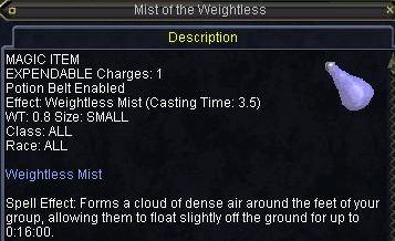 Mist of the Weightless