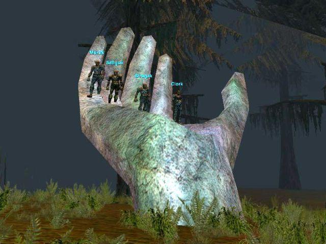 Swampの手のオブジェ